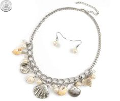 510511 NECKLACE/EARRINGS - SILVER SEA LIFE