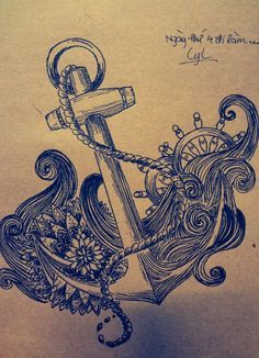 anchor with a wave tattoo - Google Search