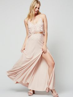 Free People Better Together Set with Crochet Top and Maxi Skirt