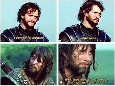 Prophetic .... Hugh Dancy & Mads Mikkelsen in King Arthur, 2004. #Hannibal