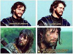 Prophetic .... Hugh Dancy & Mads Mikkelsen in King Arthur, 2004. #Hannibal