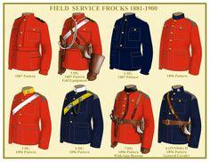 Field Service frocks 1881-1900