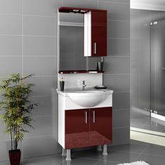 5 claret red bathroom decoration ideas