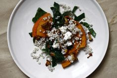 PEARL BARLEY WITH CHANTERELLE AND ROASTED PUMPKIN