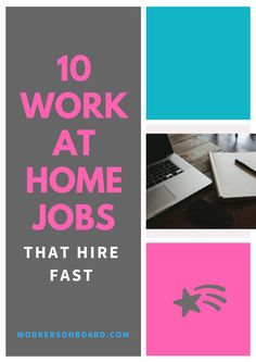 Here are a list of companies that hire either weekly or fast for you to work from home.