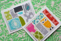 patchwork greeting card tutorial. by canoeridgecreations, via Flickr
