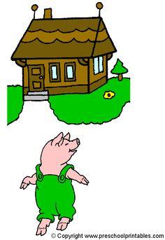 www.preschoolprintables.com / Felt Board Story / 3 Little Pigs
