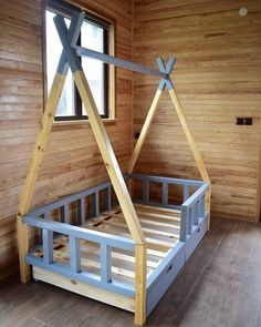 Imagine the wonderful adventurous dreams your little one will make in this cozy . Diy Toddler Bed, Boy Toddler Bedroom, Baby Boy Room Decor, Toddler Rooms, Baby Bedroom, Baby Boy Rooms, Girls Bedroom, Dinosaur Room Decor, Teepee Bed