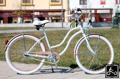 Egyedi Agyváltós Női Cruiser Kerékpár 3sp - GyöngyFehér-Rose Gold