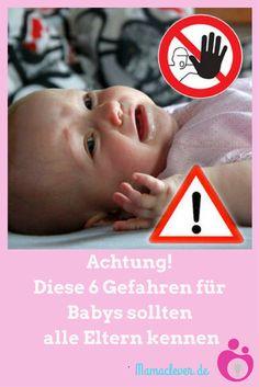 Es gibt ein paar Dinge, die häufig praktiziert werden, aber für Säuglinge sehr gefährlich oder schädlich sind und über die Eltern unbedingt Bescheid wissen sollten. Eine Übersicht #baby #gefahr