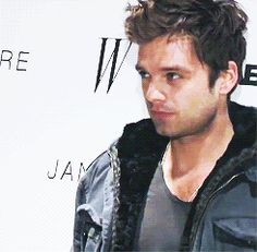 Sebastian Stan at Jane Eyre New York Premiere  3/9/2011 (gif)