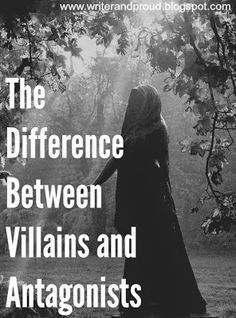 Writer and Proud: The Difference Between Villains and Antagonists. Writing tips. Writer Tips, Book Writing Tips, Writing Quotes, Fiction Writing, Writing Process, Writing Resources, Writing Help, Writing Skills, Writing Ideas
