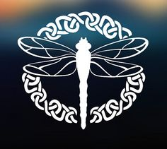 Outlander Inspired Celtic Dragonfly Decal by ScullyDogDesigns