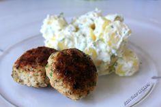 Sabrina's Køkken: Citron-kyllingdeller med kold kartoffelsalat