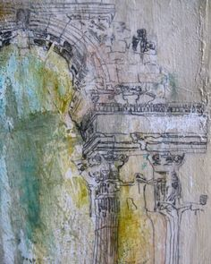 """Contemporary painting by Sharon W. Huget - detail from """"The Unknown Remembered Gate"""" Contemporary Paintings, Gate, Detail, Abstract, Artwork, Summary, Work Of Art, Portal, Auguste Rodin Artwork"""