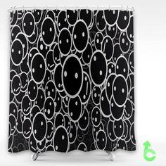 Cheap digital art face gray Shower Curtain