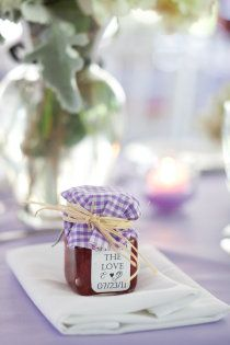 Jam with Us     purple-violet wedding favor