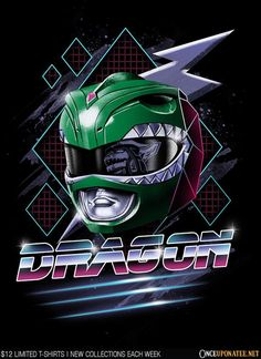 Epic Dragon T-Shirt by Vincent Trinidad. features the Green Ranger with Dragon written in Inside the visor a reflection of the Dragon Zord can be seen Go Go Power Rangers, Mighty Morphin Power Rangers, Live Action, Green Power Ranger, Tommy Oliver, Pawer Rangers, Day Of The Shirt, New Wallpaper, Geek Out