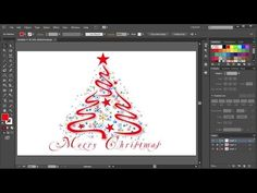 How to Draw a Christmas Tree in Adobe Illustrator | 2 - YouTube