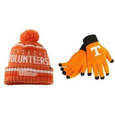 NCAA Tennessee Volunteers Barometer Beanie Hat And Glove Solid Knit 2Pk 68069
