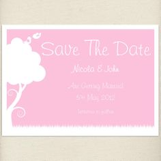 rustic pale pink, blush, Save the date card, £1.20, #savethedate