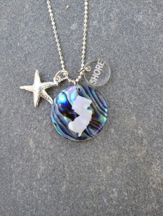 New Jersey Paua Abalone Starfish Necklace by CABANA109 on Etsy