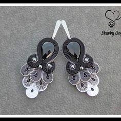 Soutache Necklace, Tassel Earrings, Ring Earrings, Boho Jewelry, Handmade Jewelry, Antique Copper, Costume Accessories, Shibori, Beaded Embroidery