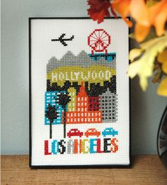 Los Angeles Cross Stitch Chart Instant Download
