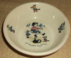 Vintage Shenango Childrens Cereal Bow Jack be Nimble Jack be Quick $16.99 Ebay