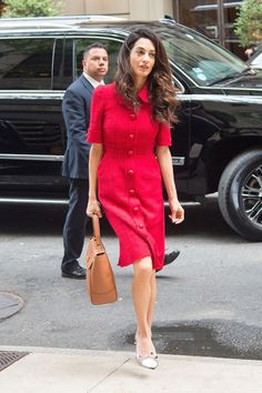 In Dolce & Gabbana while out in New York.