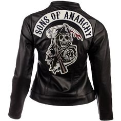 Sons of Anarchy Leather Women's Jacket | SOA Reaper | FX Shop ❤ liked on Polyvore