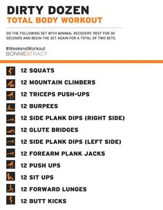 Image result for dirty dozen arm workout