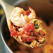 Chicken and Shrimp Jambalaya, Recipe from Cooking.com. Going to try this recipe tomorrow!