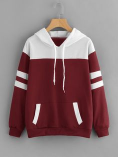 Shop Contrast Panel Varsity Striped Marled Hoodie online. SheIn offers Contrast Panel Varsity Striped Marled Hoodie & more to fit your fashionable needs.