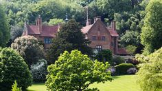 A view of Chartwell House from the opposite side of the valley, in Westerham, Kent, England, National Trust. Chartwell was the country home of Sir Winston and Lady Clementine Churchill between 1922 and 1964.
