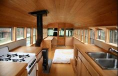 Close off the front of the bus for better insulation