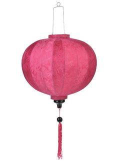 """16"""" Fuchsia Round Silk Lantern (Discontinued)"""