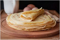 pancake przepis Usmay dobre naleniki to ju nie tyl - pancake Thin Pancakes, Recipe Steps, Crepes, Bento, Peanut Butter, Ethnic Recipes, Food, Kochen, Pancakes