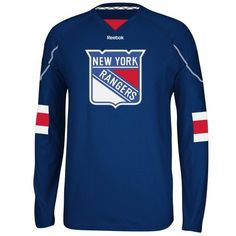 newest 415ee 8f94c Reebok New York Rangers Faceoff Edge Long Sleeve T-Shirt - Royal Blue