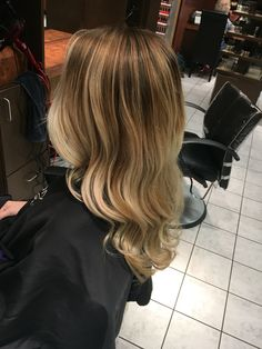 Soft blonde balayage