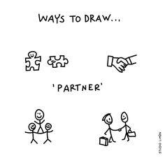 193 vind-ik-leuks, 5 reacties - Studio Limón (@studiolimonillustrations) op Instagram: '1+1= 3. Word of day 50: partner. . . #365waystodrawfestival #partner #illustratie #illustration…'