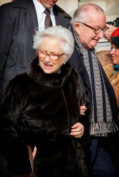 Belgian King Albert II and Queen Paola at the mass to commemorate the deceased members of the Belgian Royal Family, at the cathedral in Laeken, Brussels, Belgium, 12.02.2015