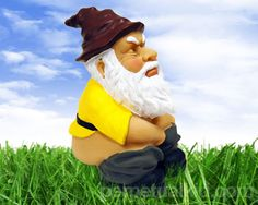 Our Squatting Gnome really cracks us up (pun intended) cause it shows that even gnomes have to answer the call of nature here and there.  Don't worry though, he could just be fertilizing your yard!  Be the envy of your neighbors.  Perfect for the garden.  You could even use it to liven up your office cube!              Gnomes are supposed to bring good luck, but we're not sure what a Squatting Gnome is supposed to bring except toilet paper!