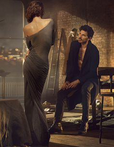 collections-from-vogue:  Catherine McNeil & Andres Velencoso Segura By Mikael Jansson For Donna Karan, Fall 2013
