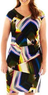 R&K Originals® Ruched Print Dress - Plus