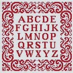 alfabeto em ponto de cruz - Pesquisa Google