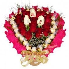 Rosas Vermelhas, Azuis... Buquê de Bombons, Vai encantar o seu amor... Bouquet Personalizado Bombons Um bouquet é um presente que sempre agrada. Um bouquet com rosas personalizadas, unido à doçura de bombons se torna inesquecível. As rosas que falam por você e expressam os seus sentimentos.