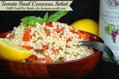Tomato Basil Couscous Salad by Will Cook For Smiles for Love Grows Wild #recipe #salad