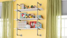 Tips for making a DIY industrial pipe shelving unit (how to tutorial). Description from pinterest.com. I searched for this on bing.com/images