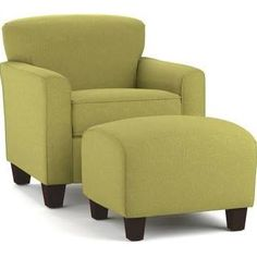 green armchair and ottoman - Google Search